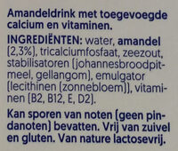 Roasted Almond No Sugars - Ingrediënten - nl