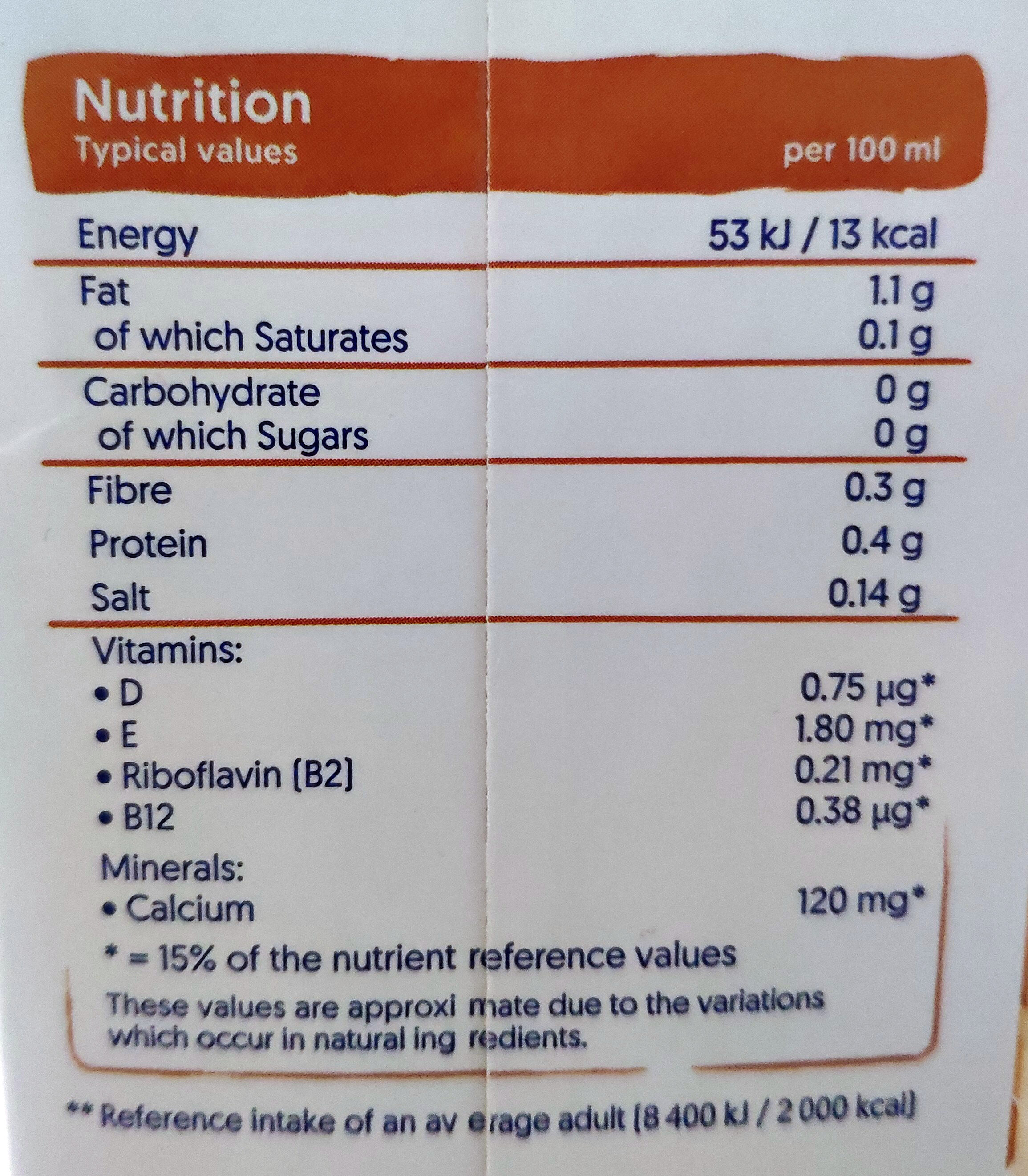 Mandel ohne Zucker - Nutrition facts - en