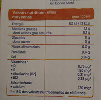 alpro Almond No Sugars - Informations nutritionnelles - fr