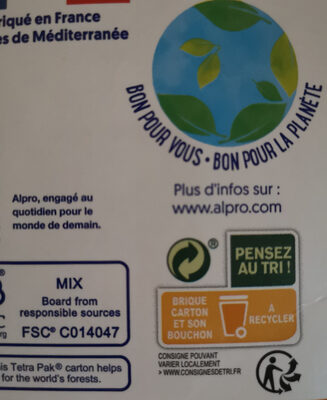 alpro Almond No Sugars - Instruction de recyclage et/ou informations d'emballage - fr