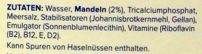 Mandel ungesüßt - Ingrédients