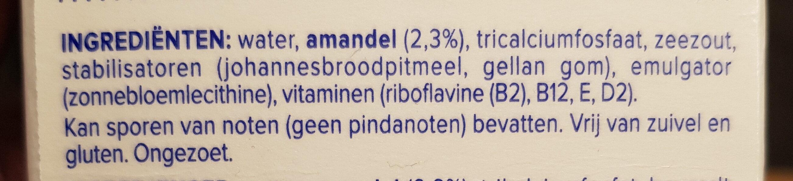 Almond Unsweetened Drink - Ingredients - en