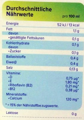 Mandel ungesüßt - Informations nutritionnelles