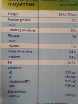lait d'amande grillée non sucré - Ingrédients