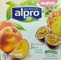 Yogurt a base de soja melocotón 2x piña-fruta de la pasión - Producte - es