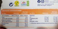 Yogurt a base de soja melocotón 2x piña-fruta de la pasión - Informació nutricional - es