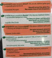 Boisson biologique à base d'amande sans sucres - Ingredients - de
