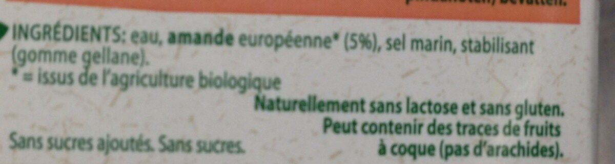 Almond Mandel Milch - Ingrediënten