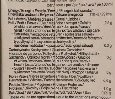 Boisson biologique à base d'amande sans sucres - Nutrition facts - fr