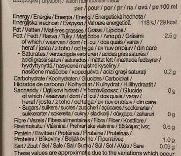 Boisson biologique à base d'amande sans sucres - Voedingswaarden - fr