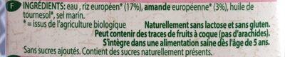 Rice-almond drink - Ingredients - en