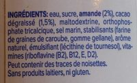 Boisson Amandes Chocolat Noir - Ingredients - fr