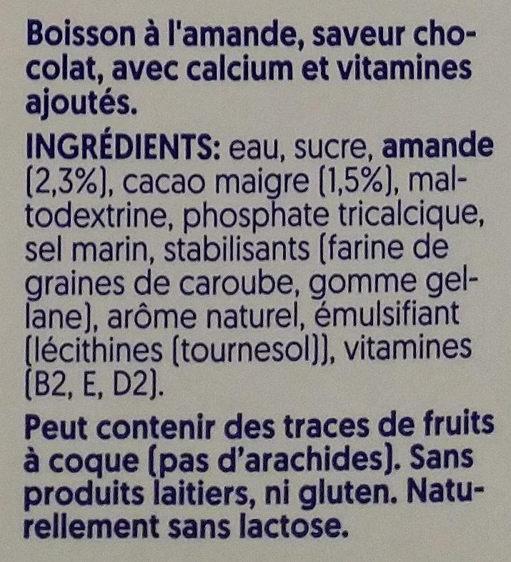 Dark Chocolate Almond - Ingrédients - fr