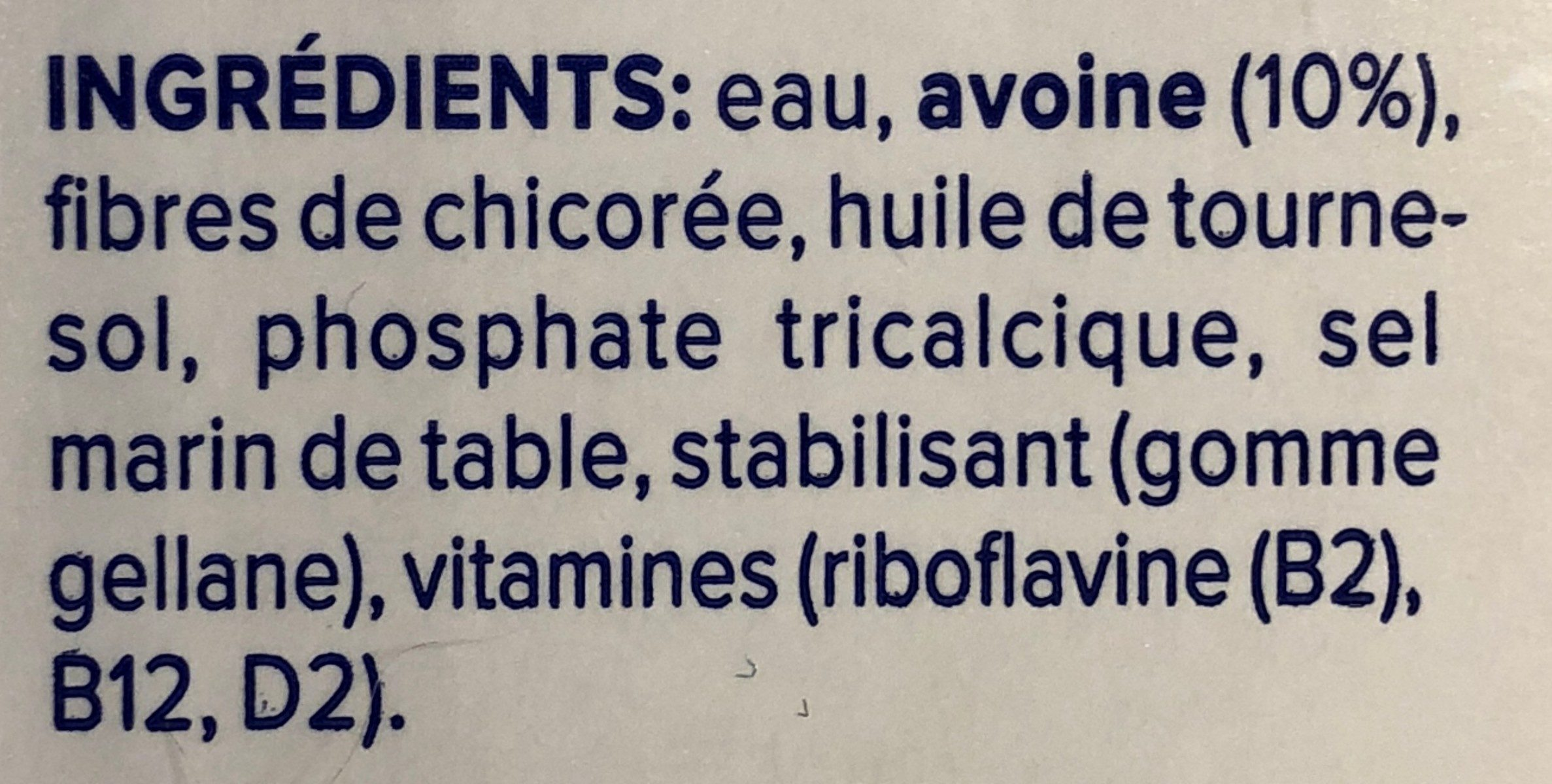 Avoine original - Ingrediënten