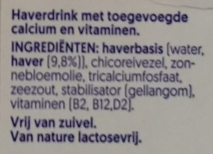 Alpro Oat - Ingrediënten - nl