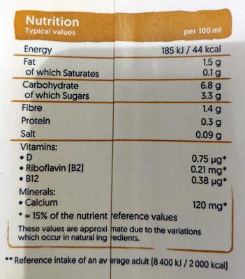 Avoine original - Nutrition facts - en