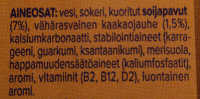 Boisson soja saveur chocolat - Ainesosat - fi