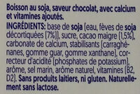 Soy chocolate flavor - Ingrédients - fr