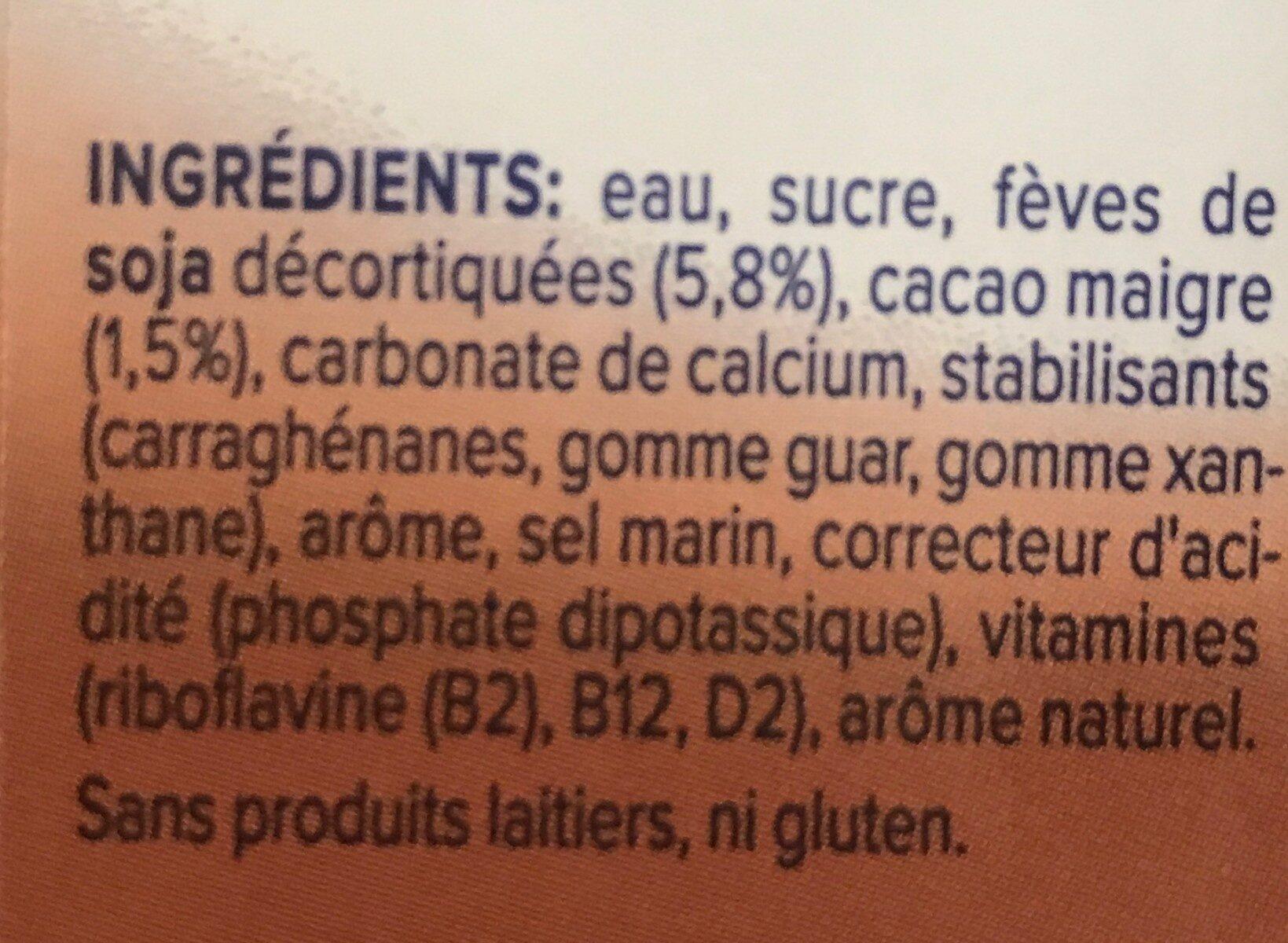 Schokolade Geschmack - Ingrédients