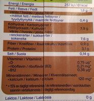 Boisson soja saveur chocolat - Ravintosisältö - fi