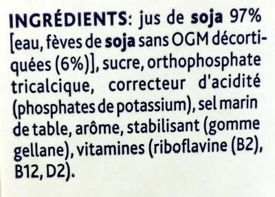 Soya Original - Ingrediënten