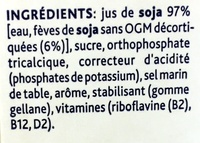 Soja original saveur douce - Ingredientes