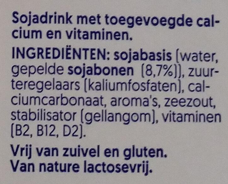 soja milch - Ingrediënten - nl