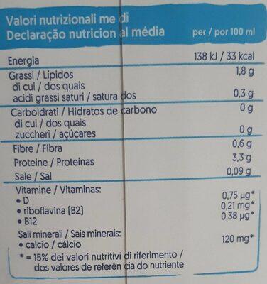 soia senza zuccheri - Valori nutrizionali - fr