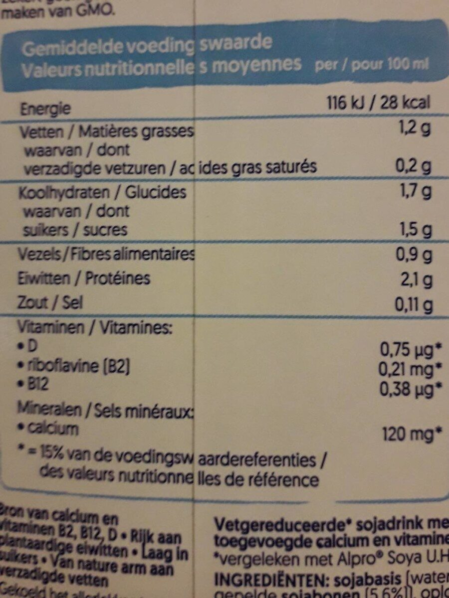 Soya light - Nutrition facts - de