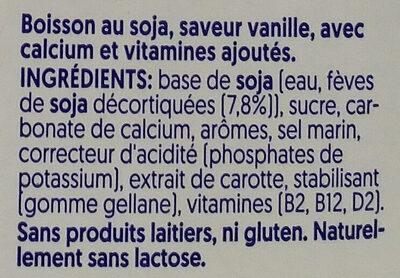Alpro Lait Vanille - Ingredienti - fr