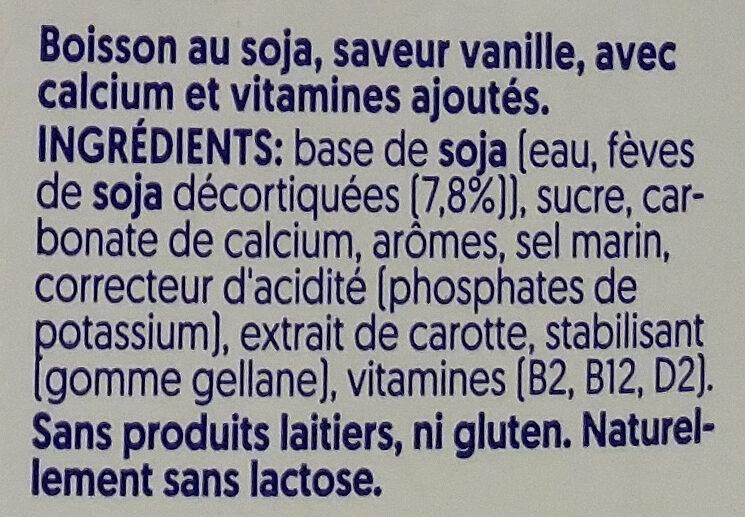Vanilla flavour soya - Ingrédients - fr