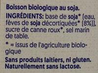 Bio Soya - Ingredients - fr