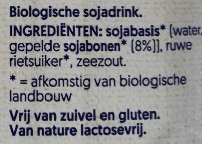 Bio Soya - Ingrediënten - nl