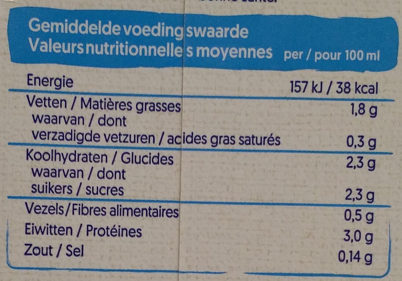 Bio Soya - Voedingswaarden - nl