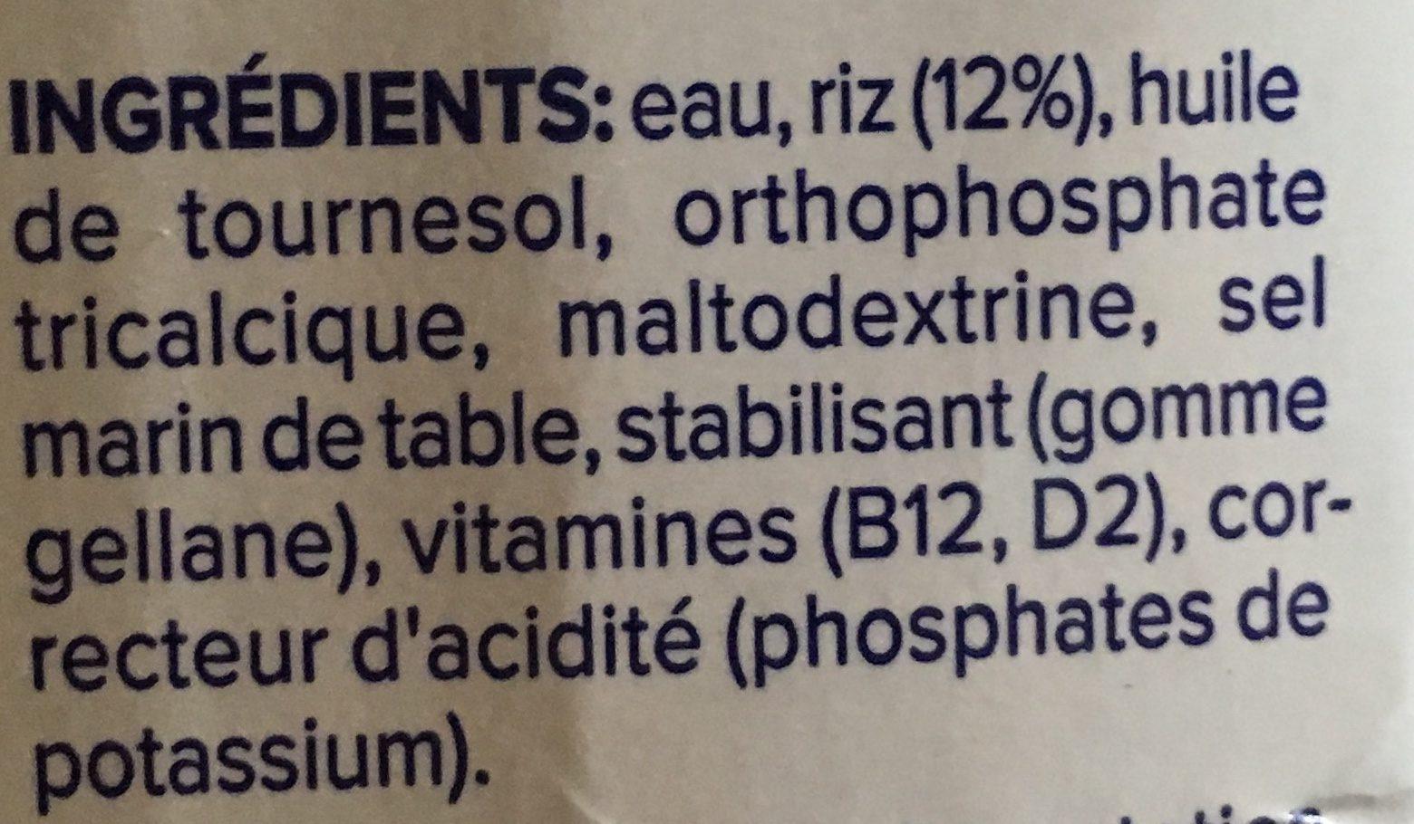 Reis - Ingredients - fr