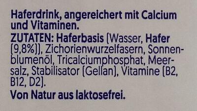Alpro Hafer - Ingrédients - de