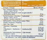 Hafer - Nutrition facts - de