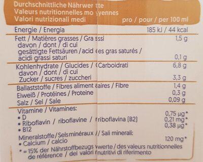 Alpro Hafer - Informations nutritionnelles - de