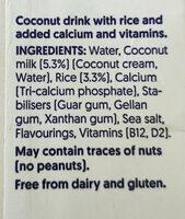 Coconut - Ingredientes - en