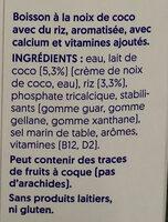 Kokosnuss Original - Ingredientes