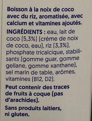 Cocco - Ingrédients - fr