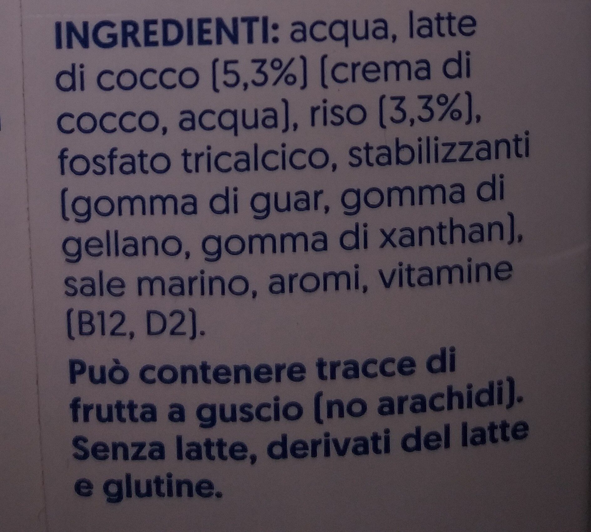 Cocco - Ingredients - it