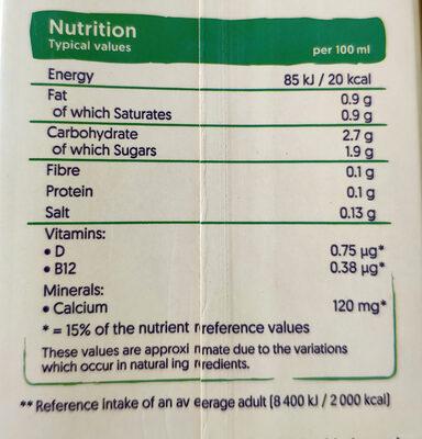 Coconut - Voedingswaarden - en