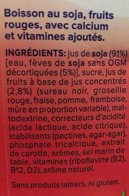 Soja aux fruits rouges - Ingredients