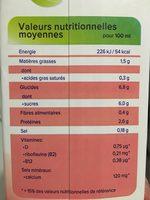 Soja aux fruits rouges - Voedingswaarden - fr