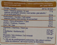 Soya macchiato - Informations nutritionnelles - fr