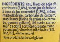 Alpro Soya Drink Banana - Ingrédients