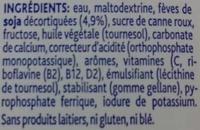 Boisson de Croissance Soya 1-3+ - Ingrédients - fr