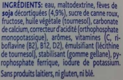 Boisson de Croissance Soya 1-3+ - Ingrédients