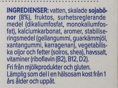 Barista soia - Ingredients - sv